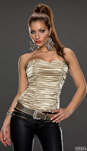 Bustier Gold