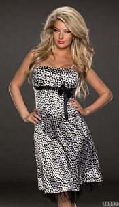 Mididress Black / White