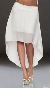 Mullet-Skirt White