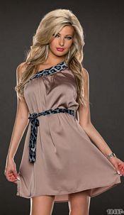 One-Shoulder-Minidress Frappe
