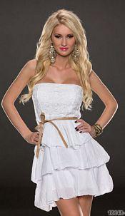 Dress Bandeau Mini Dress White