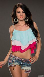 Crop Top Mixed / Roze
