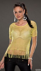 Short-Sleeved-Shirt Yellow