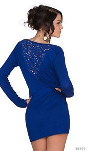 Long-Sleeved-Minidress Royalblue