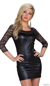 Lace-Minidress Black