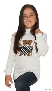 Knitted-Pullover White