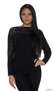 Long-Sleeved-Minidress Black