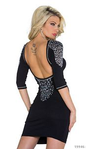 Backless Dress Black