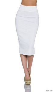 Midi-Skirt White