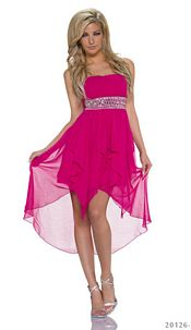 Bandeau Minidress Darkfuchsia