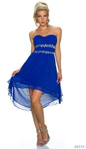 Strapless Minidress Royalblue