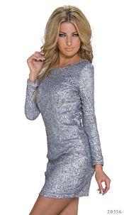 Sequins-Minidress Silver