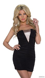 Strapless Minidress Black
