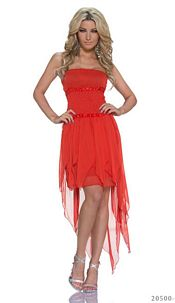 Chiffon-Minidress Red