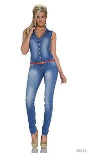Jeans-Overall Indigo blue