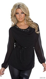 Long-Sleeved-Shirt Black