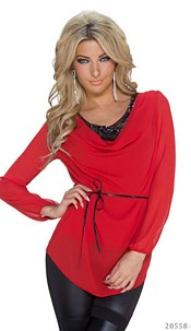Long-Sleeved-Shirt Red