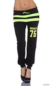 Joggingpants Black / Neonyellow