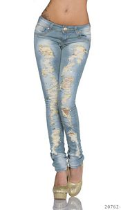 Jeans with belt Lake-blue