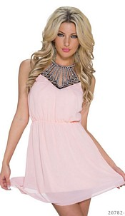 Halter-Minidress Pink