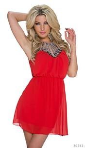 Halter-Minidress Red