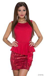 Pailletten-Minidress Red