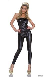 Wet-Look-Overall Black