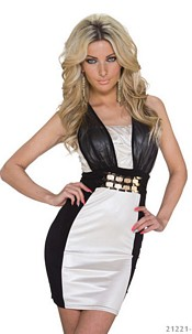 Minidress Cream / Black