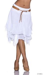 Midi Skirt White