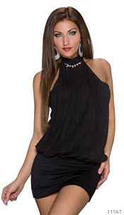 Halter-Minidress Black