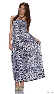 Maxidress Black / White
