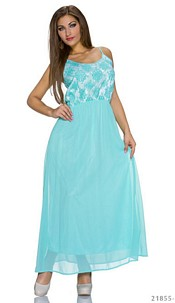 Maxidress Turquoise-green