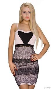 Strapless Minidress Pink