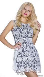 Minidress White / Black