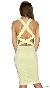 Mididress Yellow