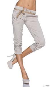 Capri-Pants Oxford-Tan