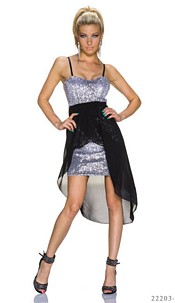 Minidress Silver / Black