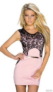 Minidress Pink / Black