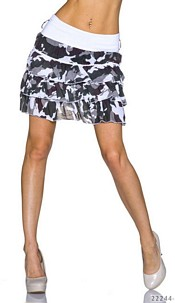 Mini Skirt Camouflage / White