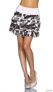 Mini Skirt Camouflage / Rose