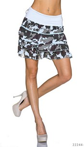 Mini Skirt Camouflage / Babyblue
