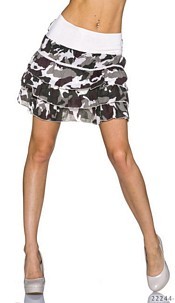 Mini Skirt Camouflage / Cream