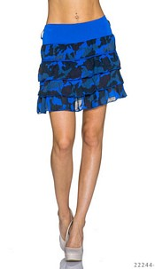 Mini Skirt Camouflage / Royalblue