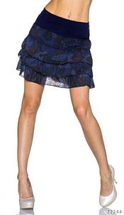 Mini Skirt Camouflage / Darkblue