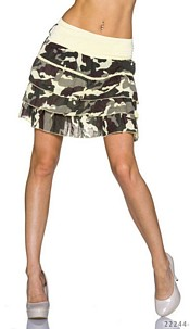 Mini Skirt Camouflage / Yellow