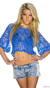 Crop Shirt Blue