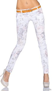 Trousers Mixed / White
