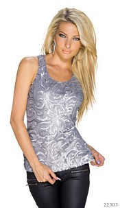 Sequins-Top Silver