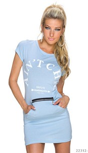 Short-Sleeved-Minidress Angelblue