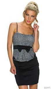 Strapless Minidress Black / Gray